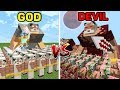 Download  Minecraft GOD vs DEVIL : HUGE BATTLE Army in Minecraft MP3,3GP,MP4
