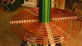 Download My 900 VA Tesla Coil! (Resonant Transformer) Lightning Machine Video