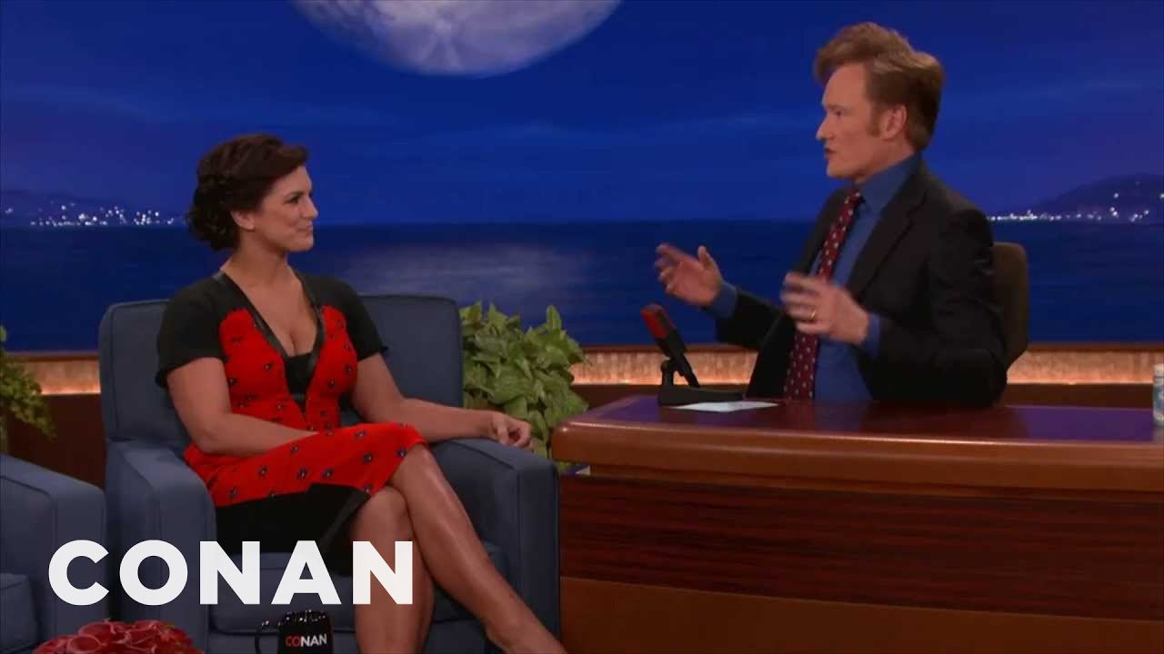 Gina Carano Explains Why Sex Is Like Cagefighting | CONAN on TBS