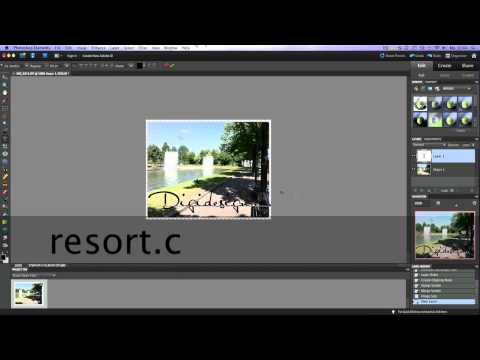 Create a watermark in Photoshop Elements