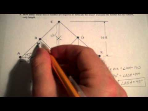 POE Practice Problem - Roof Truss Geometry