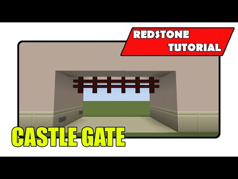 Super Simple Castle Gate [Portcullis] (Minecraft Xbox TU22/PlayStation CU8)