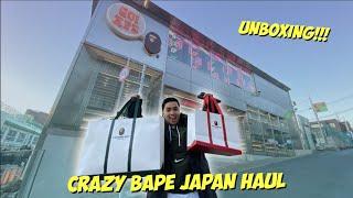 CRAZY BAPE JAPAN HAUL (UNBOXING)   ChummiTV