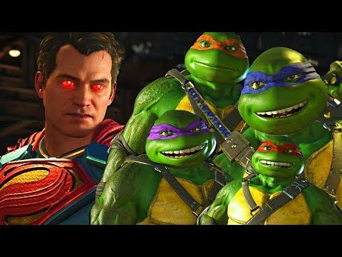 Injustice 2 - Ninja Turtles vs Superman All Intro Dialogue