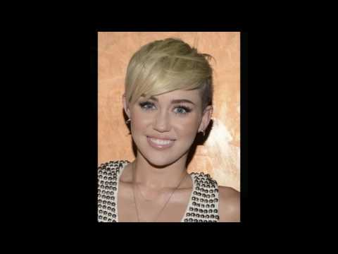 Miley Cyruss Shaved Sides with pixie cuts