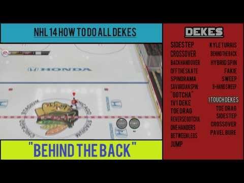 NHL 14: How to do All Dekes (Tutorial)