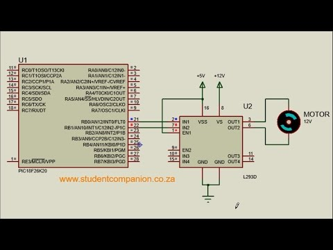 MPLAB XC8 for Beginners Tutorial -33- Interfacing DC Motor