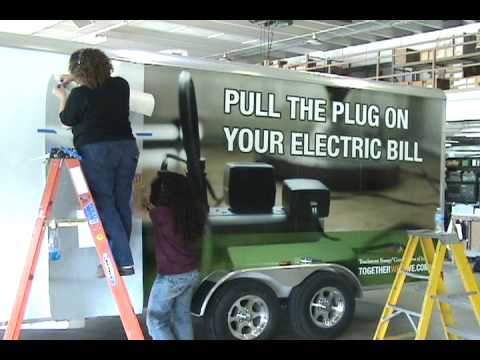 Energy Efficiency Trailer Gets Wrapped With Signage