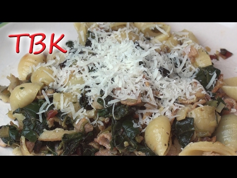 Pasta with Bacon and Chard Recipe - Titli's Busy Kitchen