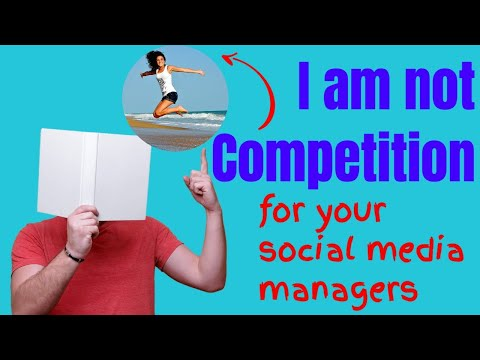 I am not competition for your social media, marketing or web teams.