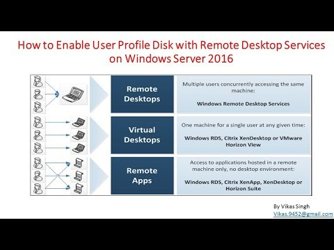 26 - How to Enable User Profile Disk with Remote Desktop Services on Windows Server 2016