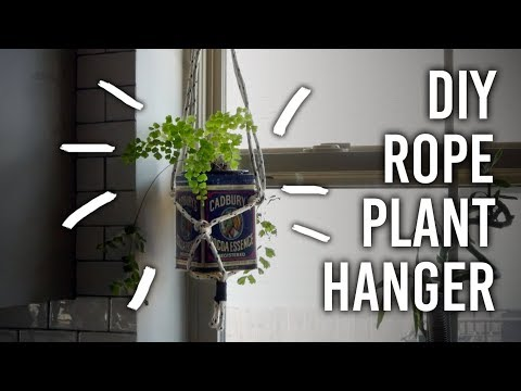 How to Make a Hanging Rope Planter : DIY