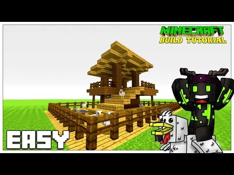 Minecraft | CHICKEN PEN/CHICKEN COOP | TUTORIAL (TU35) 2016