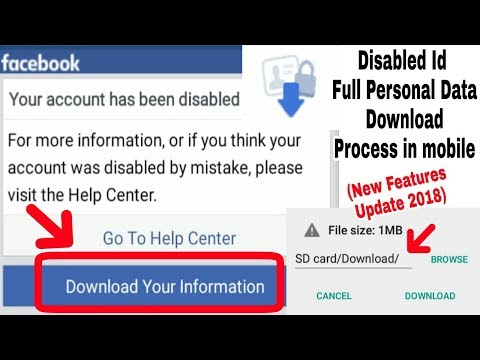 Solved Facebook Disabled Accounts Personal Full Data Download Problem in Mobile | New Update 2018