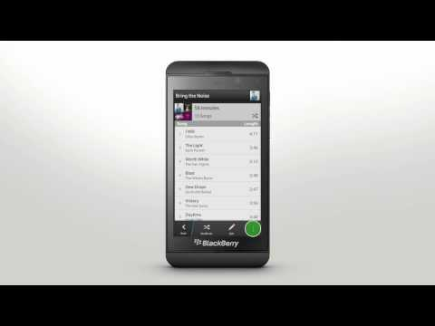 Playing Music: BlackBerry Z10 - Official How To Demo