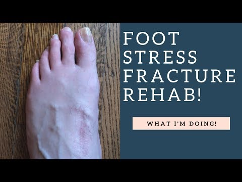BEST Metatarsal Stress Fracture Rehab Exercises I've Been Doing (How To Demo!)