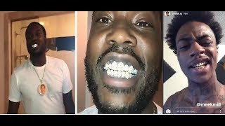 Boonk Gets at Meek Mill after Meek gets grills