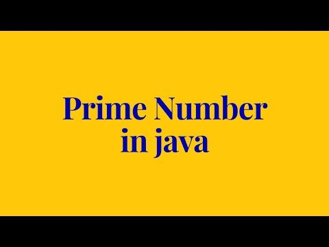 how to check prime number in java