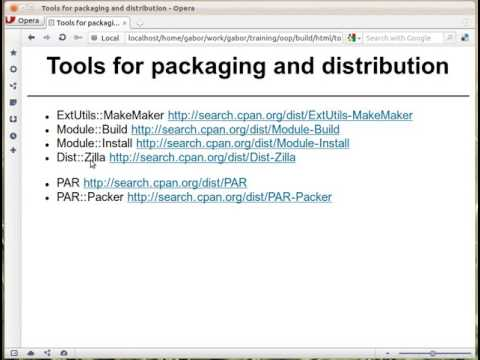 Tools to package Perl scripts, modules, and applications