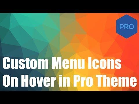 Adding Custom Icons Below Your Menu Items in Pro WordPress Theme