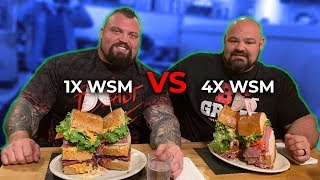 WORLD'S STRONGEST MEN VS 18LB SANDWICH