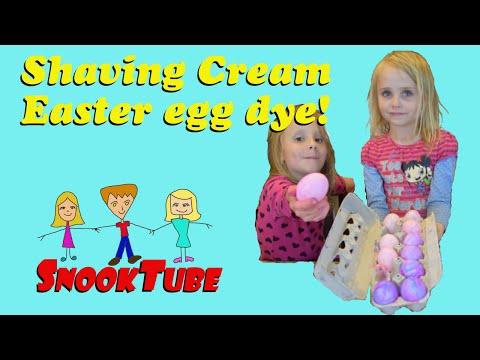 Shaving Cream Easter Egg Dye