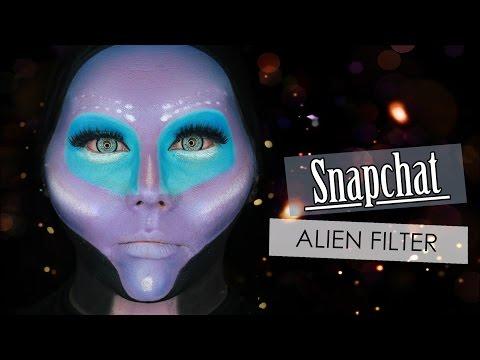 Galaxy Alien SNAPCHAT Filter Inspired Makeup Tutorial   Electra Snow