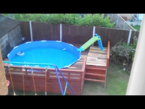 Decking my pool in with pallets !!!!! only £86 total