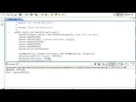 Java HashSet HashMap Demonstration Tutorial