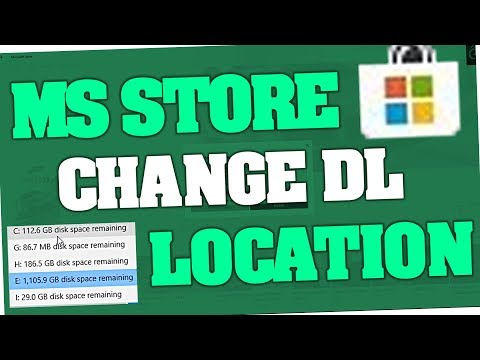 Microsoft Store - How to change Download & Install Location (Windows 10)