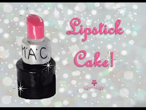 How to make a Giant Lipstick Make-up Cake from Creative Cakes by Sharon
