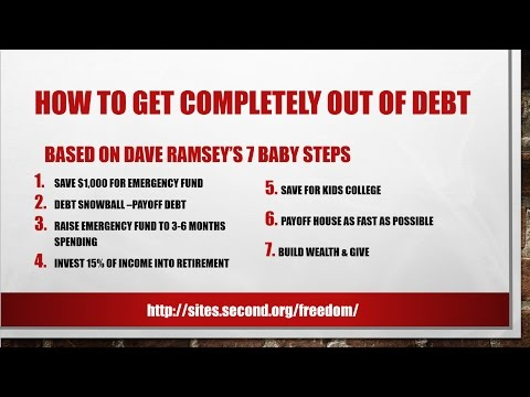 How To Get Completely Out Of Deby Using Dave Ramsey's Debt Snowball