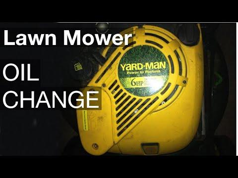 Lawn mower oil change