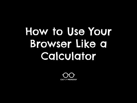 How to Use Your Browser Like a Calculator
