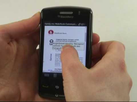 BlackBerry Storm 2 9520 Test Internet