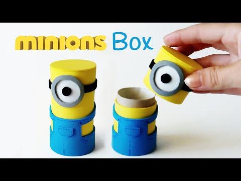 DIY crafts: MINIONS BOX from cardboard tube - Innova Crafts