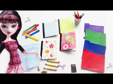 📚 How to Make Doll School Supplies