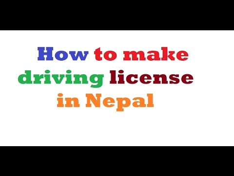 How to get driving license in Nepal? (full process from form apply to license withdraw)