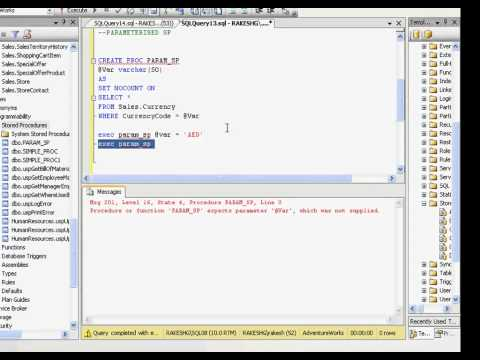 SQL 2008 Series: Introduction to Stored Procedures