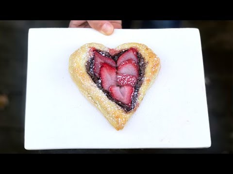 Nutella Heart Puff Pastries: Make VALENTINE'S DAY Easy | One Hungry Mama