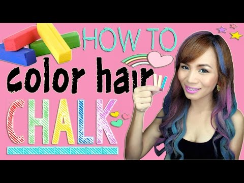 How to Color Hair Using CHALK! | (Cheap and Easy Hair Hack)