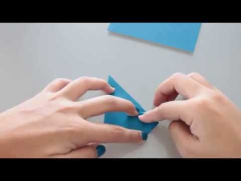 How to make an origami heart from a rectangular paper
