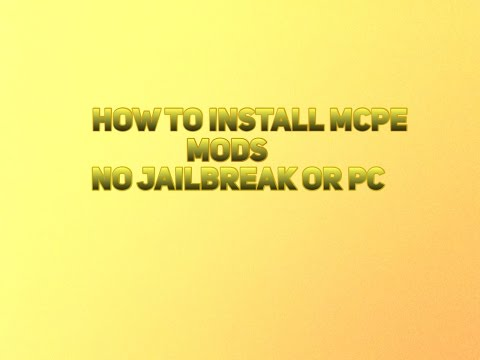 How To Install MCPE Mods and Maps For Free! No Jailbreak Or PC!