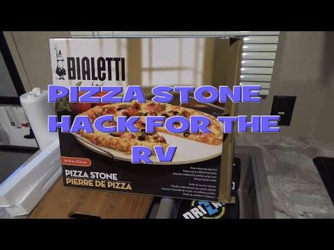 RV Stove hack the Pizza Stone