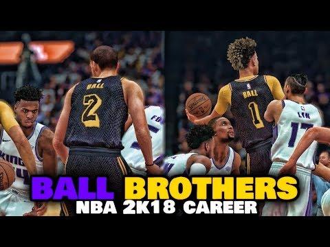 INTENSE FINISH IN THE SEASON OPENER - NBA 2K18 BALL BROTHERS MYCAREER