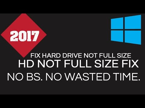 Fix Hard Drive Not Showing Full Size