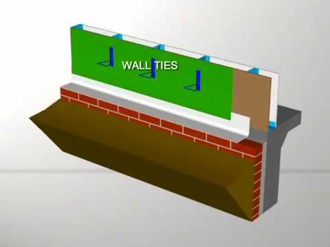 Drainage Wall Construction Wall Ties/Damp Proofing/Building Wrap/Flashing at Base of Wall