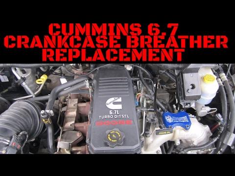 Cummins 6.7 Crankcase Breather Replacement/Installation Video