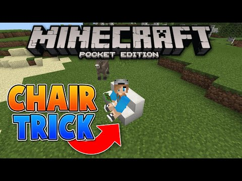 A WORKING CHAIR IN MCPE - MCPE 0.15.0 Chair Trick - Minecraft PE (Pocket Edition)