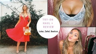 8236007f5baa HUGE Winter 2019 Try-On Clothing Haul + Review (Lulu's, Boohoo, Zaful